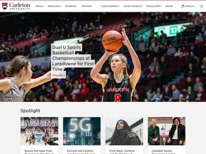 Carleton University's Website Screenshot