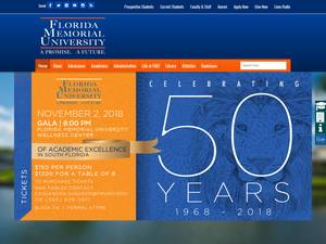 Florida Memorial University's Website Screenshot