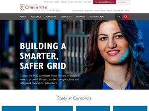 Concordia University's Website Screenshot