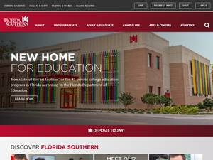 Florida Southern College's Website Screenshot