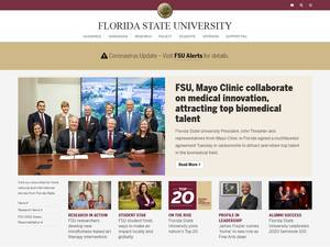 Florida State University's Website Screenshot