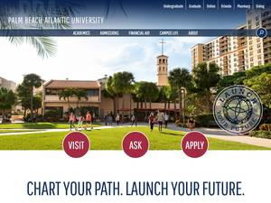 Palm Beach Atlantic University's Website Screenshot