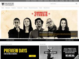 Dalhousie University's Website Screenshot