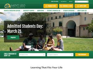Saint Leo University's Website Screenshot