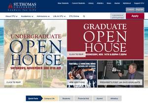 St. Thomas University's Website Screenshot