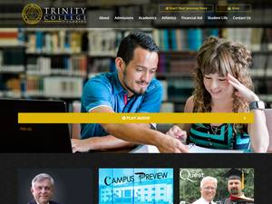 Trinity College of Florida's Website Screenshot