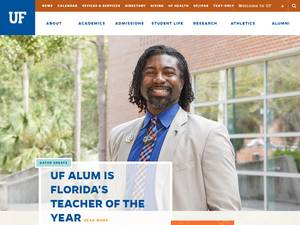 University of Florida's Website Screenshot