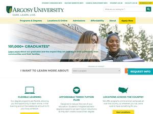 Argosy University's Website Screenshot