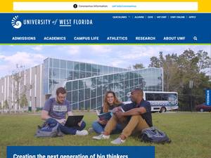 University of West Florida's Website Screenshot