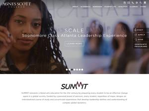 Agnes Scott College's Website Screenshot