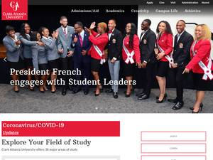 Clark Atlanta University's Website Screenshot