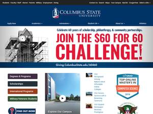 Columbus State University's Website Screenshot