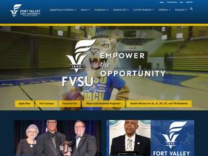 Fort Valley State University's Website Screenshot