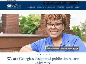 Georgia College and State University's Website Screenshot