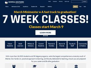 Georgia Southern University's Website Screenshot