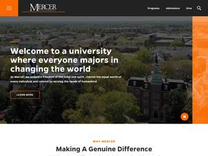 Mercer University's Website Screenshot