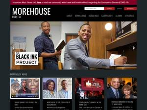 Morehouse College's Website Screenshot