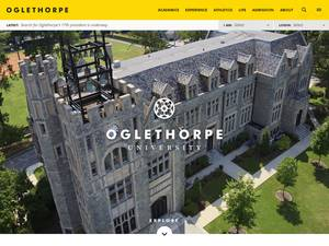 Oglethorpe University's Website Screenshot