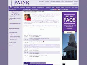 Paine College's Website Screenshot