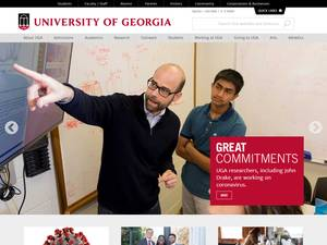 University of Georgia's Website Screenshot