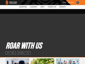 Idaho State University's Website Screenshot