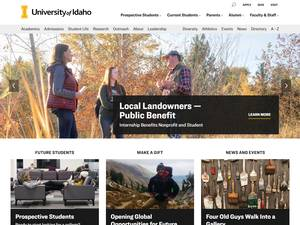 University of Idaho's Website Screenshot