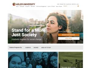 Adler University's Website Screenshot