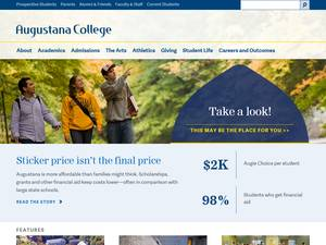 Augustana College's Website Screenshot