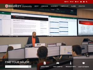 Bradley University's Website Screenshot