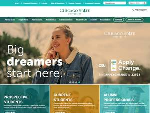 Chicago State University's Website Screenshot