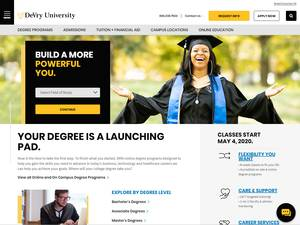 DeVry University's Website Screenshot