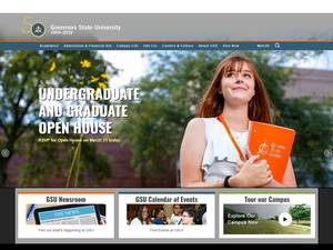Governors State University's Website Screenshot