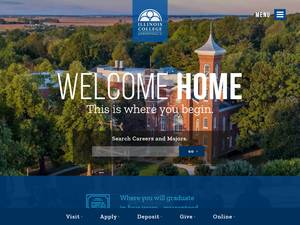 Illinois College's Website Screenshot