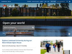 Lakehead University's Website Screenshot