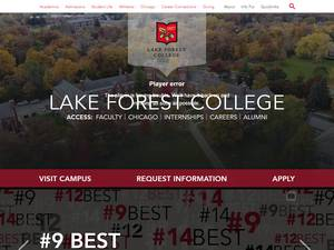 Lake Forest College's Website Screenshot