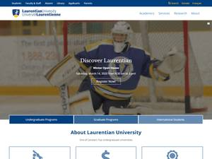 Laurentian University's Website Screenshot