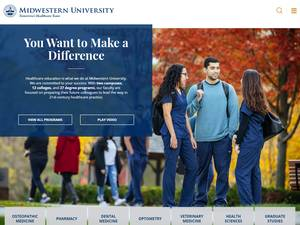 Midwestern University's Website Screenshot