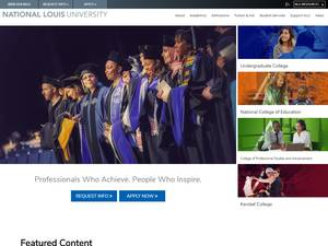 National Louis University's Website Screenshot