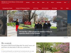 North Central College's Website Screenshot