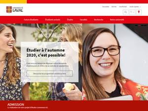 Université Laval's Website Screenshot