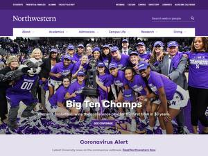 Northwestern University's Website Screenshot