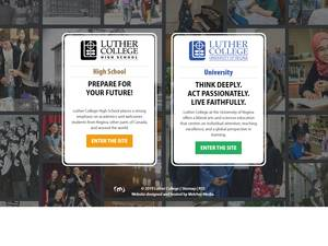 Luther College at the University of Regina's Website Screenshot