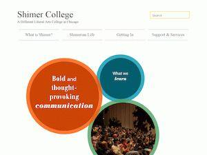 Shimer College's Website Screenshot