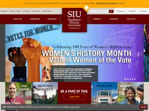 Southern Illinois University Carbondale's Website Screenshot