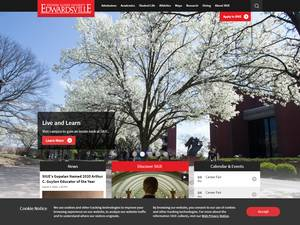 Southern Illinois University Edwardsville's Website Screenshot