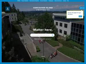 Vancouver Island University Screenshot