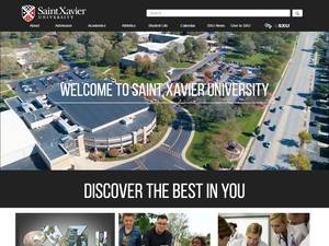 Saint Xavier University's Website Screenshot
