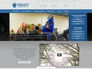 Trinity International University's Website Screenshot