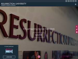 Resurrection University's Website Screenshot