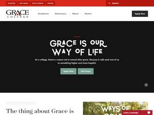 Grace College's Website Screenshot